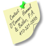 The Law Firm of O'Connor, Hammel, & Butler 410-321-0595